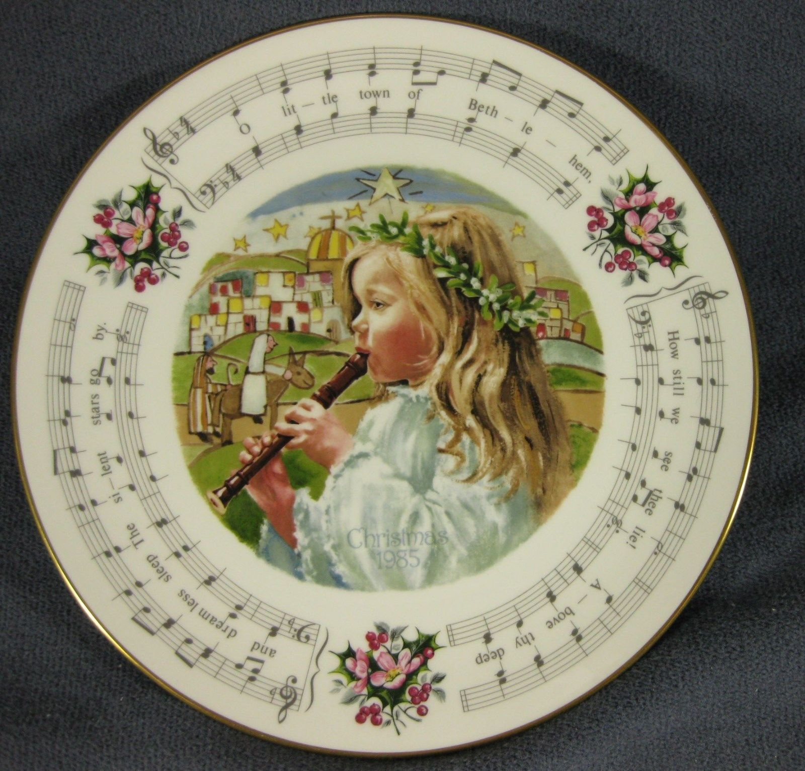 Primary image for Royal Doulton Little Town Of Bethlehem 1985 Christmas Carol Collector Plate
