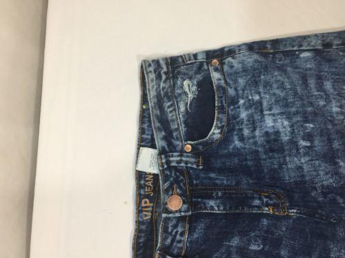 Vip Jeans Acid Wash Skirt Above Knee Regular Fit   Blue Cotton Size 11/12 image 11