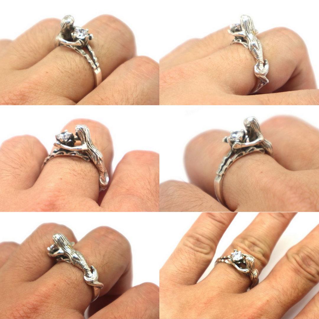 Sterling Silver Mermaid Ring image 6