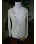uniqlo xs light gray cotton cashmere cardigan sweater - $11.39