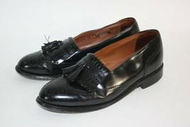 Bostonian Wingtip KiltieTassel Loafers Shoes Men's 9 D Black - $26.68