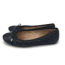Sam Edelman Womens Ballerina Flats Black Quilted Cap Toe Bow Slip On Sho... - €40,72 EUR