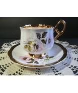 Vintage Rosina Pink Floral Tea Cup Saucer Fine Bone China England - $16.83