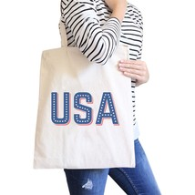 USA With Stars Natural Unique Design Canvas Tote For 4th of July - $21.22 CAD