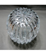 Large 5 Inch Tall  Vintage Crystal Trinket Jewelry Box Jajecar Yugoslavi... - $11.99
