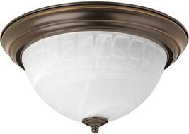 Progress Lighting 13.125-in W Antique bronze LED Flush Mount Light ENERG... - €67,86 EUR