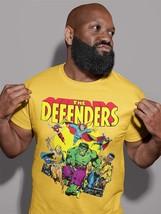 The Defenders T Shirt vintage retro Marvel comics Valkyrie Nighthawk gold tee image 3