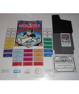 VINTAGE ORIGINAL NINTENDO NES MONOPOLY PARKER BROTHERS VIDEO GAME & MANUAL - $37.40