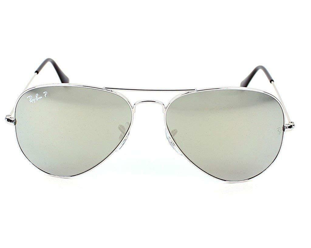 Neu Ray Ban Aviator RB3025 003/59 58mm Silber/Polarisierend Silber Spiegel image 3