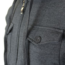 Niko Sportswear Men's Multi Pocket Fleece Lined Hooded Zip Up Jacket BJH-01 image 8
