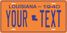Louisiana 1940 License Plate Personalized Custom Car Bike Motorcycle Moped Tag - $10.99+