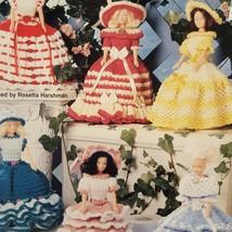 Fashionable Ladies Dolls Crochet Tissue Topper 1995 Booklet 951334 Patte... - $14.99