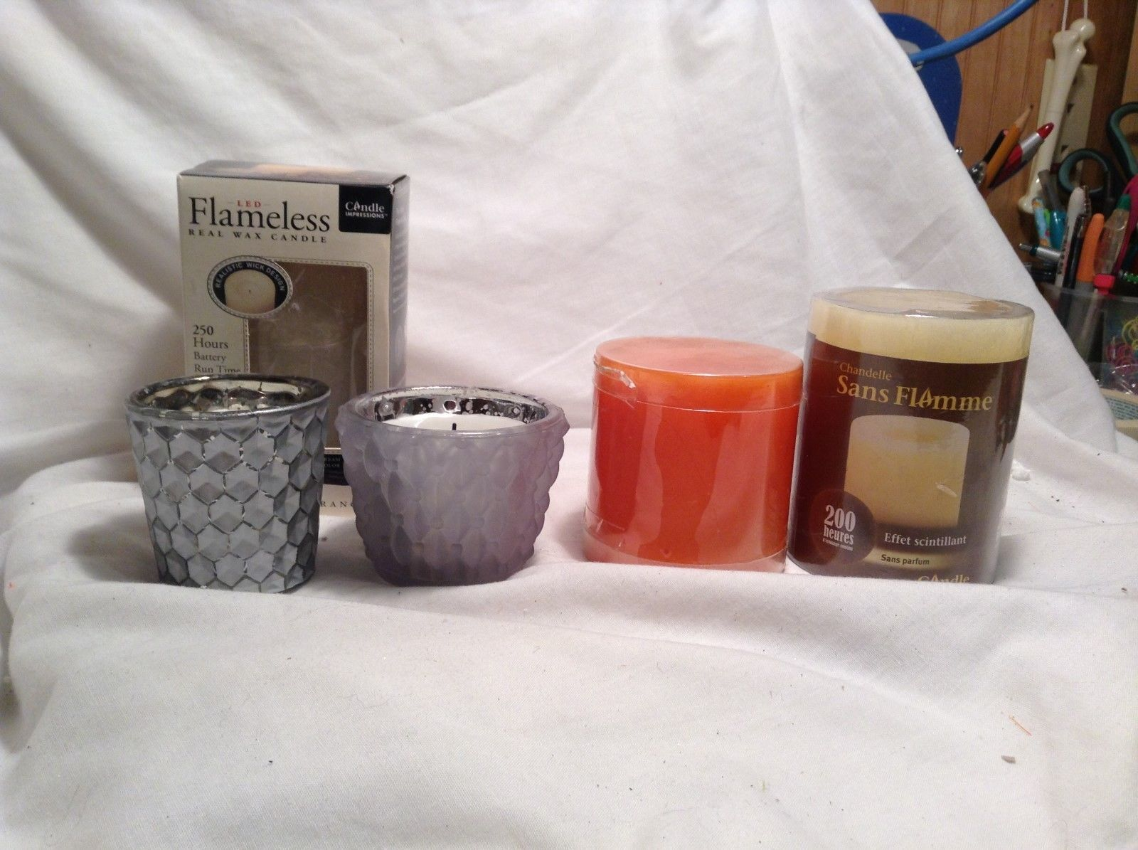 NEW Flameless Scented/Unscented Candle Set of 5