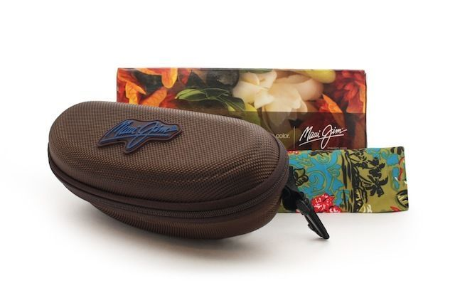 Maui Jim Castles  Sunglasses H728-01M Matte Chocolate Frame, HCL Bronze Lens