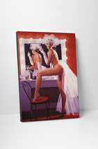 Vargas Inspired Sexy Pin Up Show Time Mounted Canvas Wall Art - $44.90+