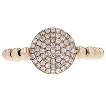 0.36ct Round Cut Diamond 14k Rose Gold Ribbed Midi Ring - £384.64 GBP
