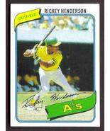 RICKEY HENDERSON Rookie Card RP #482 A's RC 1980 T Free Shipping - $2.95