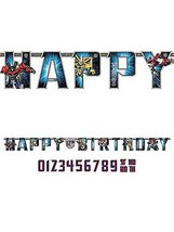 amscan Transformers Add-an-Age Letter Banner image 3