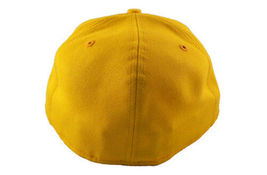 Dissizit! Mens Yellow English DX Bones Detroit New Era Fitted Baseball Hat Cap image 5