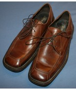 Bass Brown Leather Shoes Sz 9M 9 M Oxford Casual Tie Square Toe Mens - $26.13