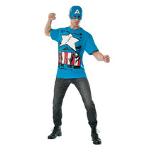 Captain America Costume T-Shirt with Mask  - $34.98