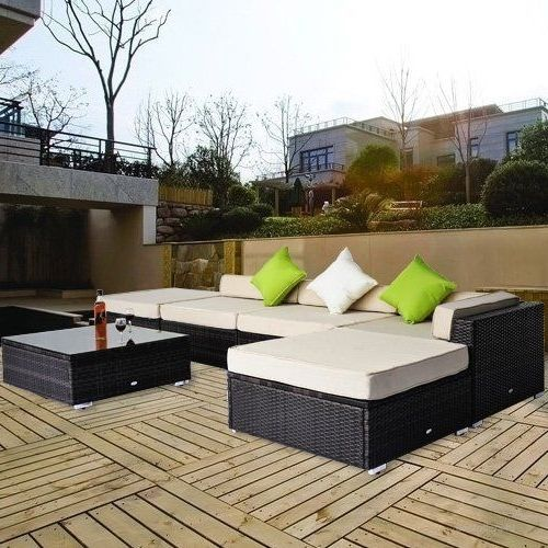 Garden Corner Sofa Rattan Set Luxury Wicker Conservatory Patio Furniture Brown image 4