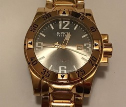 Men's Invicta Reserve Excursion Model 6247 18k Gold Plated Black Dial Watch 73 - $249.99
