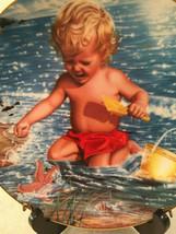 Vtg Higgins CHRISTOPHER Boy Beach Play Hamilton Collection Porcelain Plate 1987 - $24.99