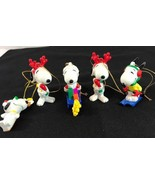 Collection Snoopy Chirtsmas ornament Peanuts united feature syndicate se... - $21.50