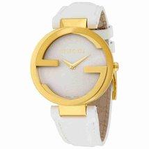 Gucci YA133327 Silver Dial Leather Strap Ladies Watch - $827.99