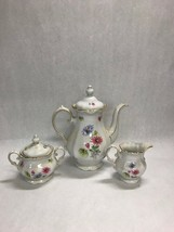 3 piece Coffee pot creamer sugar Vintage Porcelain Winterling  Bavaria Germany - $61.37