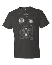 Tesla Alternating Motor T-Shirt Patent Art Gift Tesla Shirt Tesla Inventions - $18.95+