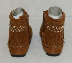 I Love Yo Kids AVA 78K Girls Fringe Boot Rust Silver Studded Size 11 image 4