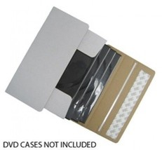 200 DVD Cardboard Box Self Seal Mailers (Ship 1-4 DVDs in DVD Cases) - $191.99