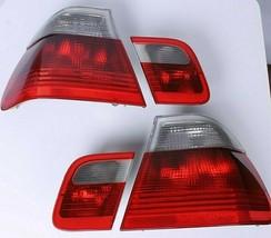 Tail Lights BMW E46 Sedan Saloon OEM Clear Cleat Euro Rear Full Set 3 1997-2002 - $187.11