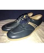 Drew Orthopedic Blue Lace Up Wedge Heel 9 AA Narrow Comfort Shoe - $29.69