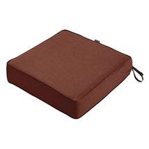 "Classic Accessories Montlake Patio FadeSafe Seat Cushion, Henna 19""Wx19""Dx5""T - $53.73"