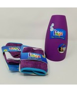 Tear Free Rinse Cup Purple with Two 3 Packs of Assorted Bath Wash Cloths... - $10.39