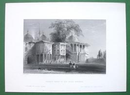 CONSTANTINOPLE Court of Serai Bournou - ca 1840 Original Print Engraving - $10.71