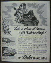 "ORIGINAL 1940 Print Ad for the 1941 Dodge Luxury Liner ""Like a Herd of Horses"" - $10.75"