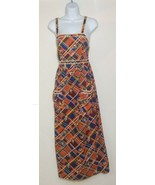 Denise Are Here Dress Plaid Floral Sleeveless Hippie Sz Small VTG 60s 70... - $148.49
