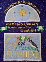 Christian Wall Hanging 12 x 14 Arise Shine for thy Light Isaiah 60:1 - $45.00