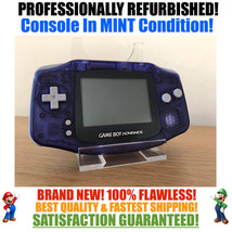 *NEW GLASS SCREEN* Nintendo Game Boy Advance GBA Clear Blue System MINT NEW - $54.40