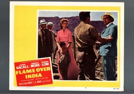 FLAME OVER INDIA-1957-LOBBY CARD-FN/VF-DRAMA-ADVENTURE-LAUREN BACALL-MOO... - $17.46