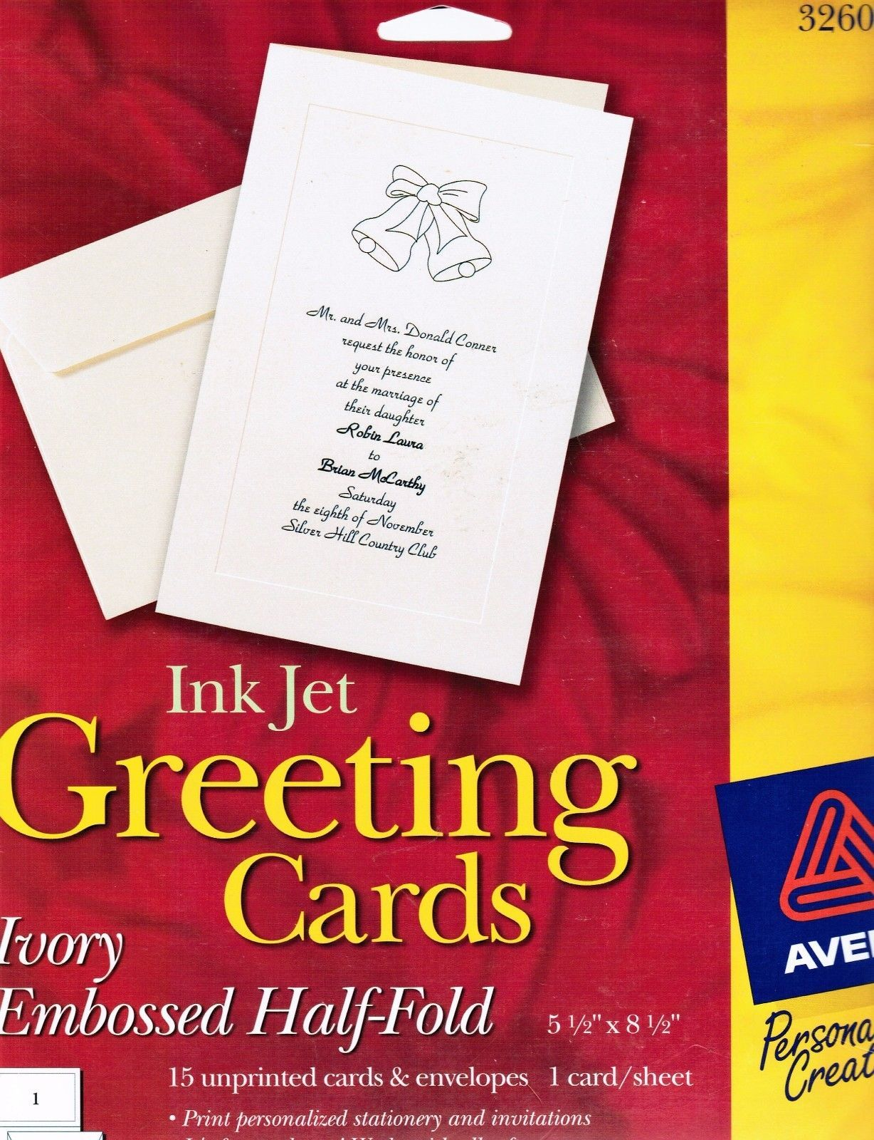 Avery 3260 Ink Jet Blank Greeting Cards 15 And Similar Items