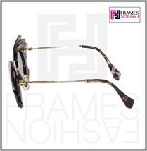 MIU MIU Overlapping Game 02S Grey Silver Mirrored Butterfly Sunglasses MU02SS image 2