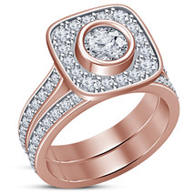 10K ROSE GOLD FINISH 1.45 CARAT WOMENS DIAMOND ENGAGEMENT RING WEDDING B... - $89.99