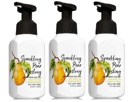 3 Bath & Body Works Sparkling Pear Riesling Gentle Foaming Hand Soap   - $29.99