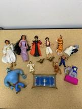 Disney Lot Aladdin Jasmin Abu Jafar Genie PVC Figure 1992 Mattel - $32.95