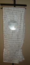 "Adirondack Berkshire Blanket Holiday Throw 50 x 70"" White/Silver Foil Me... - $39.59"